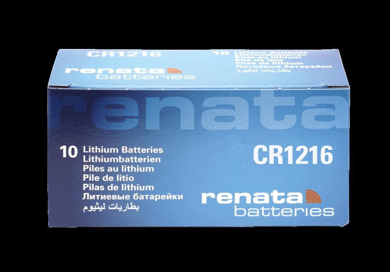 10 Baterias Pilhas de Lítio Renata CR1216 - 01 caixa com 10 unidades
