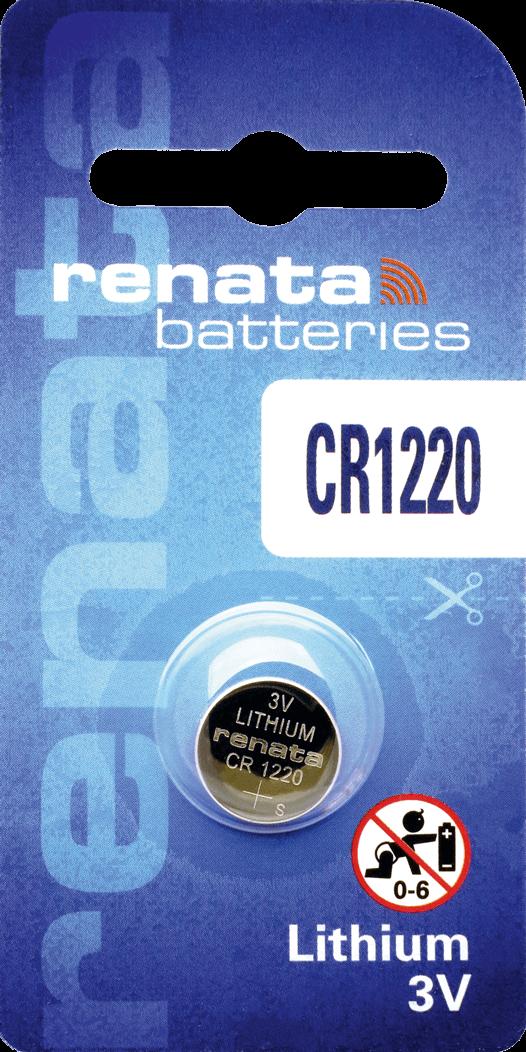 10 Baterias Pilhas de Lítio Renata CR1220 - 01 caixa com 10 unidades