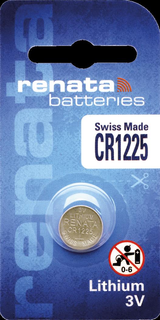 10 Baterias Pilhas Lithium Renata CR1225 - 01 caixa com 10 unidades
