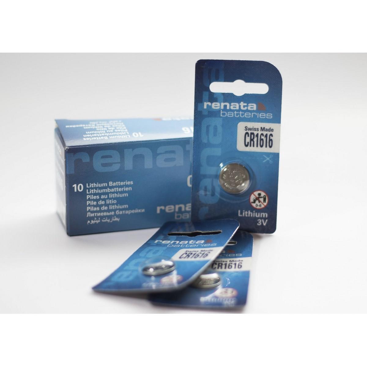 10 Baterias Pilhas Lithium Renata CR1616 - 01 caixa com 10 unidades