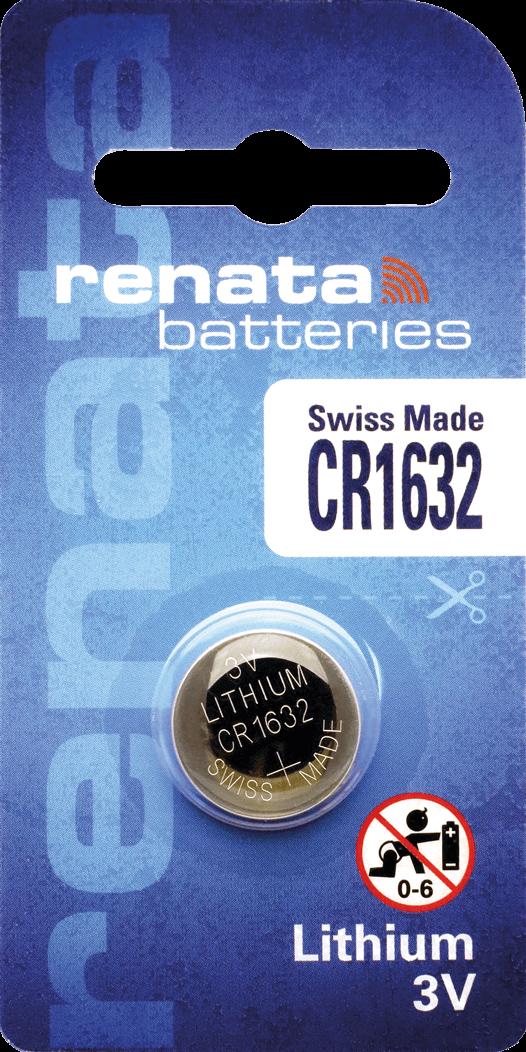 10 Baterias Pilhas de Lithium Renata CR1632 - 01 caixa com 10 unidades