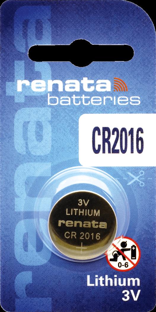 10 Baterias Pilhas Lithium Renata CR2016 - 01 caixa