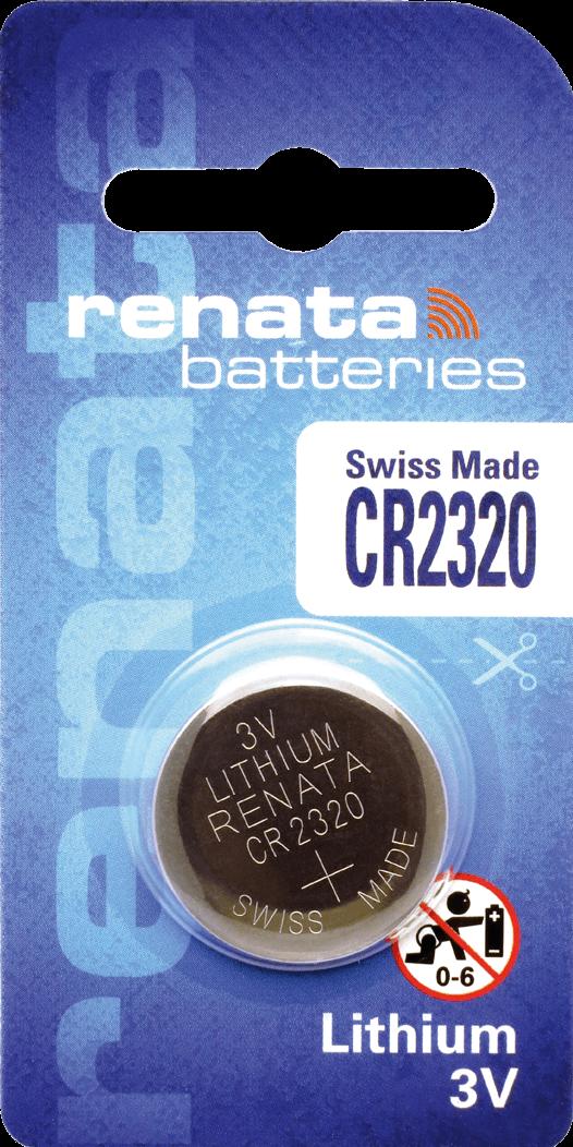 10 Baterias Pilhas Lithium Renata CR2320 - 01 caixa