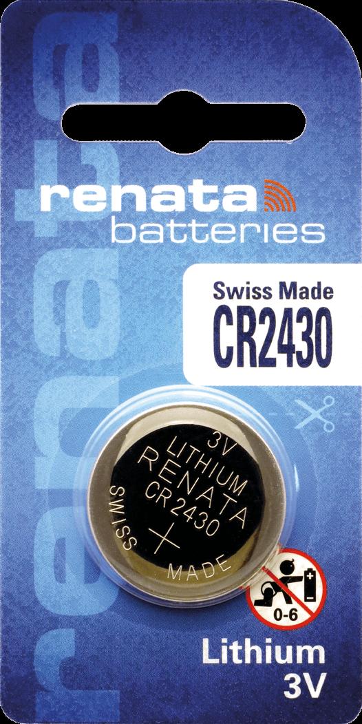 10 Baterias Pilhas Lithium Renata CR2430 - 01 caixa