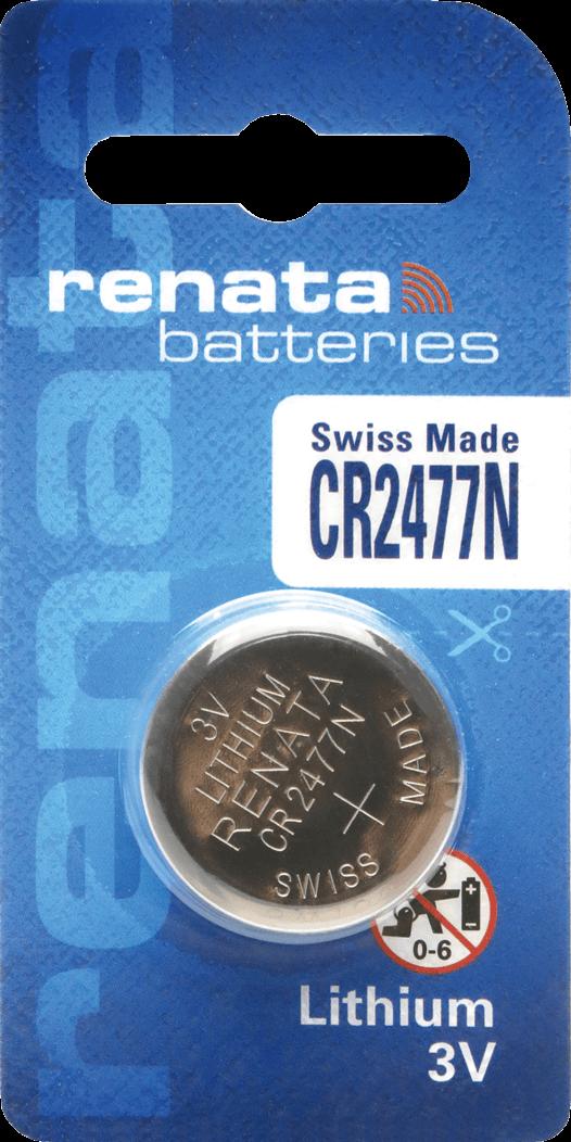 06 Baterias Pilhas Lithium Renata CR2477N - 01 caixa com 06 unidades