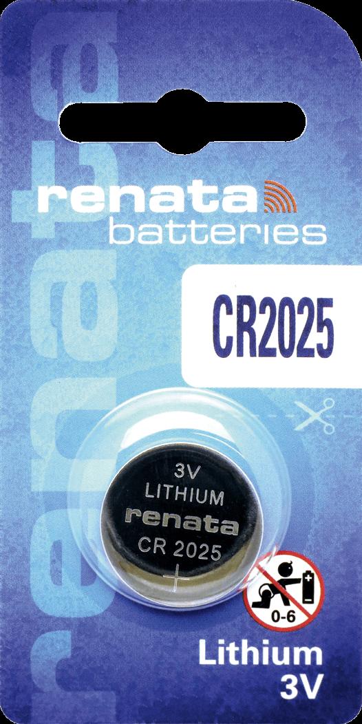 100 Baterias Pilhas Lithium Renata CR2025 - 10 caixas com 10 unidades
