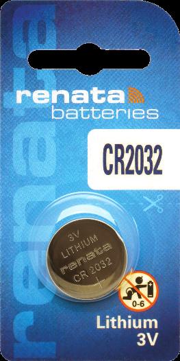 100 Baterias Pilhas Lithium Renata CR2032 - 10 caixas