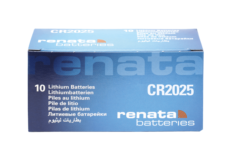 50 Baterias Pilhas Lithium Renata CR2025 - 05 caixas