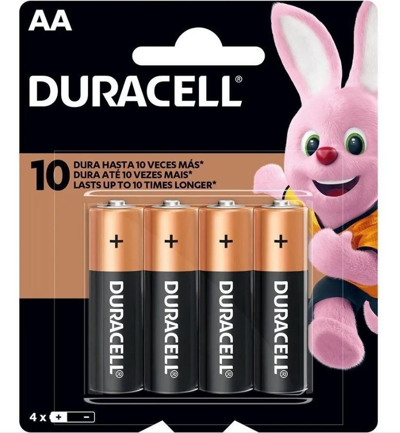 8 Pilhas Duracell Duralock Alcalina Aa Embalagem C/4 Unids