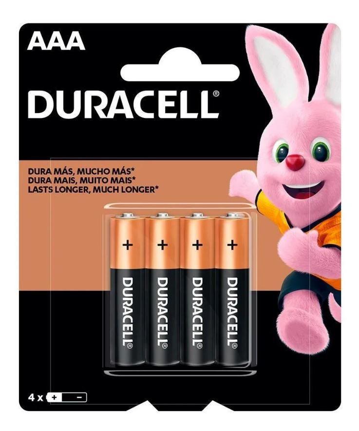 8 Pilhas Duracell Duralock Alcalina Aaa Embalagem C/4 Unids