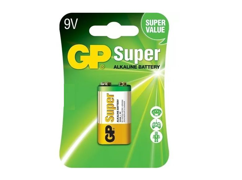 20 Pilhas Baterias 9V Alcalina GP Super - 20 cartelas com 1 unidades cada