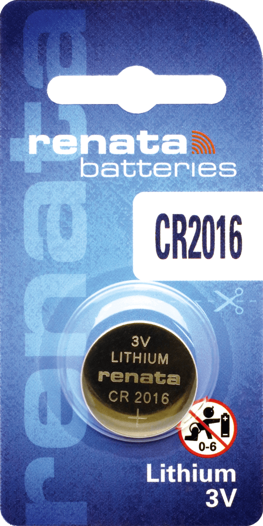 100 Baterias Pilhas Lithium Renata CR2016 - 10 caixas com 10 unidades