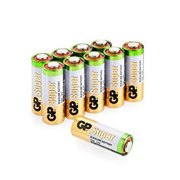 50 Pilhas Baterias 23A 12V A23 Alcalina GP Super Controle Alarme Portão - (Bulk) 1 caixa com 50 unidades