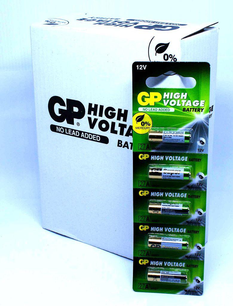 20 Pilhas Baterias 27A 12V Alcalina GP Super Controle Alarme Portão - 4 cartelas