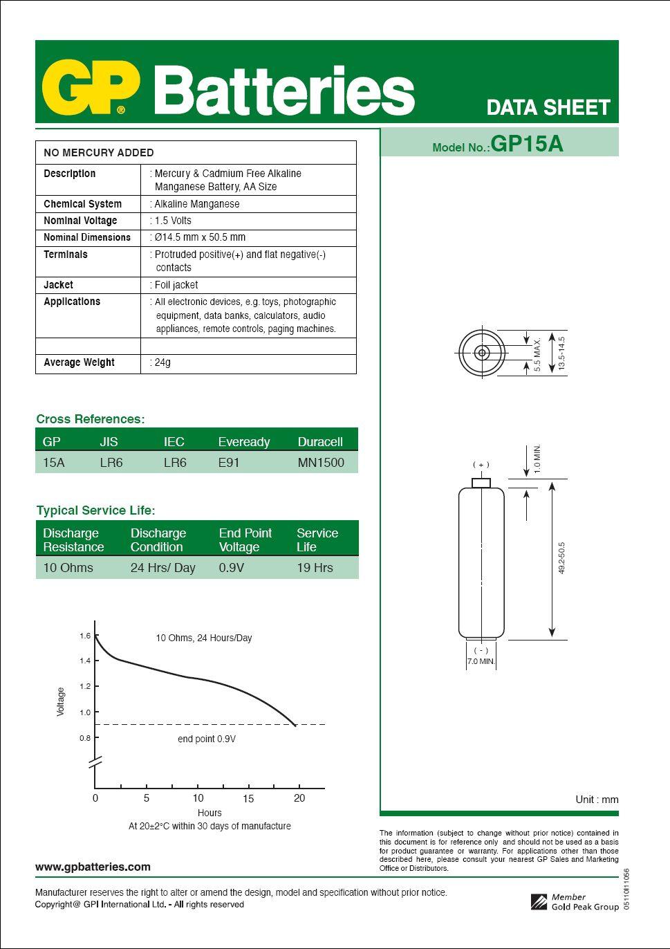 02 Pilhas AA Alcalina Super GP - 01 cartela com 2 unidades
