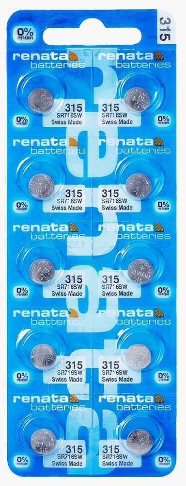 10 Pilha Bateria 315 Relógio 1.55v Renata Sr716s Original - 01 cartela com 10 unidades