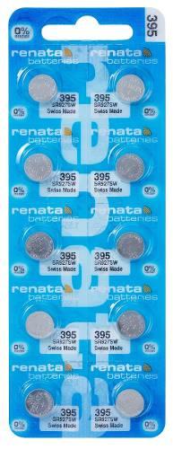 100 Pilha Bateria 395 Relógio 1.55v Renata Sr927s Original - 01 cartela com 10 unidades