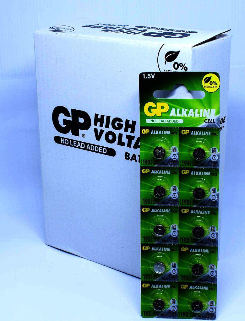 10 Pilhas Baterias LR41 Alcalina GP - 01 cartela