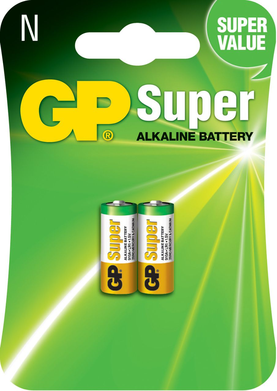 20 Pilhas Baterias Tipo N LR1 Alcalina Super GP - 10 cartelas com 2 unidades cada