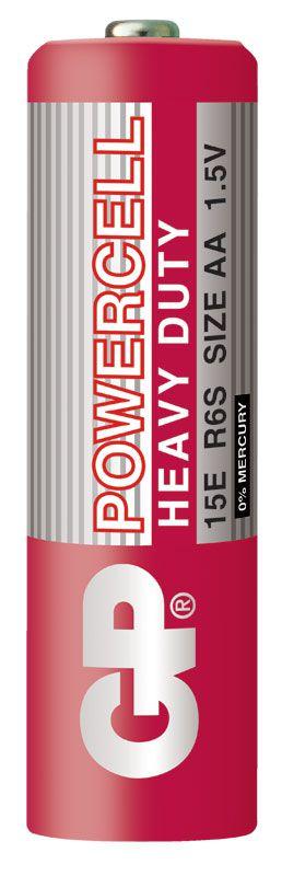 240 Pilhas AA Comum PowerPlus GP Zinco Carvão - 4 caixas com 60 unidades cada