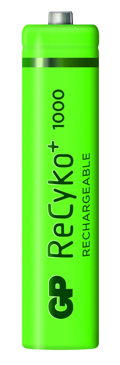 02 Pilhas AAA Recarregável 1000 mAh GP Recycko - 01 cartela