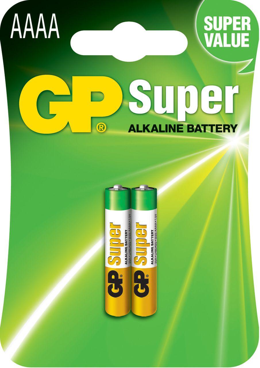 02 Pilhas AAAA Mini Alcalina Super GP - 01 cartela com 2 unidades