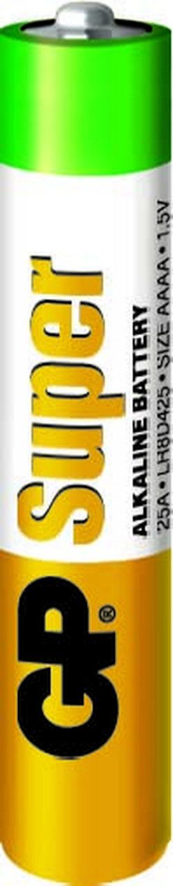 20 Pilhas AAAA Mini Alcalina Super GP - 10 cartelas com 2 unidades cada