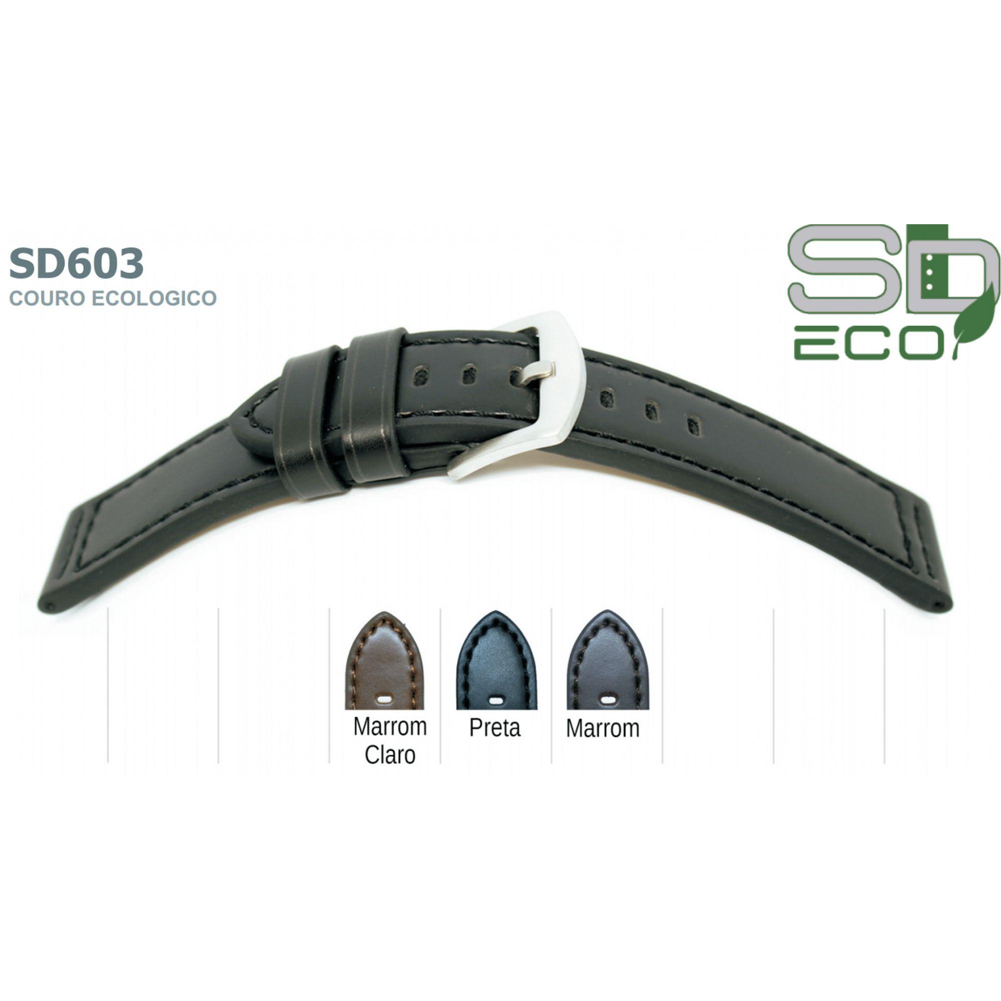 Pulseira de Couro Ecológico SDeco 603