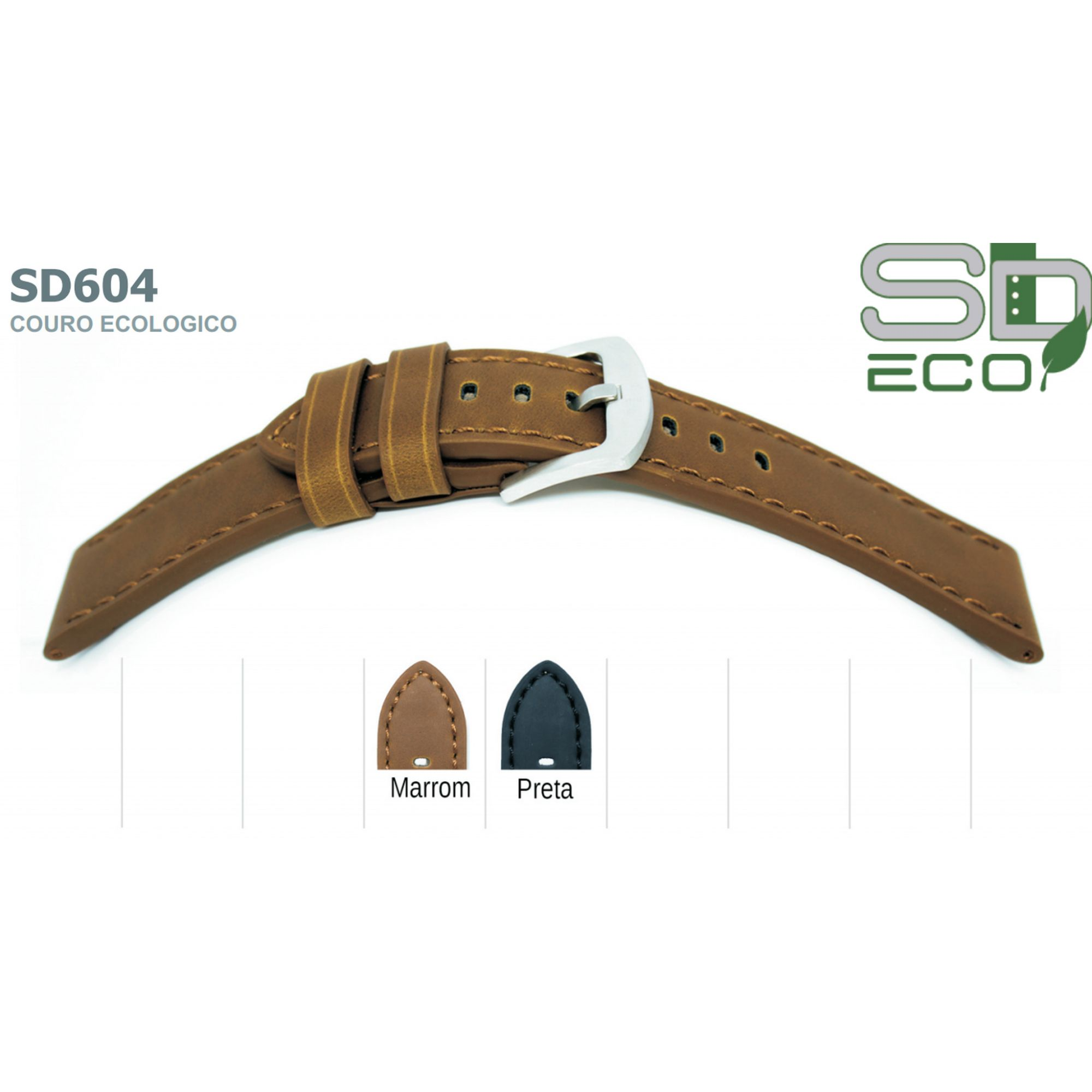 Pulseira de Couro Ecológico SDeco 604