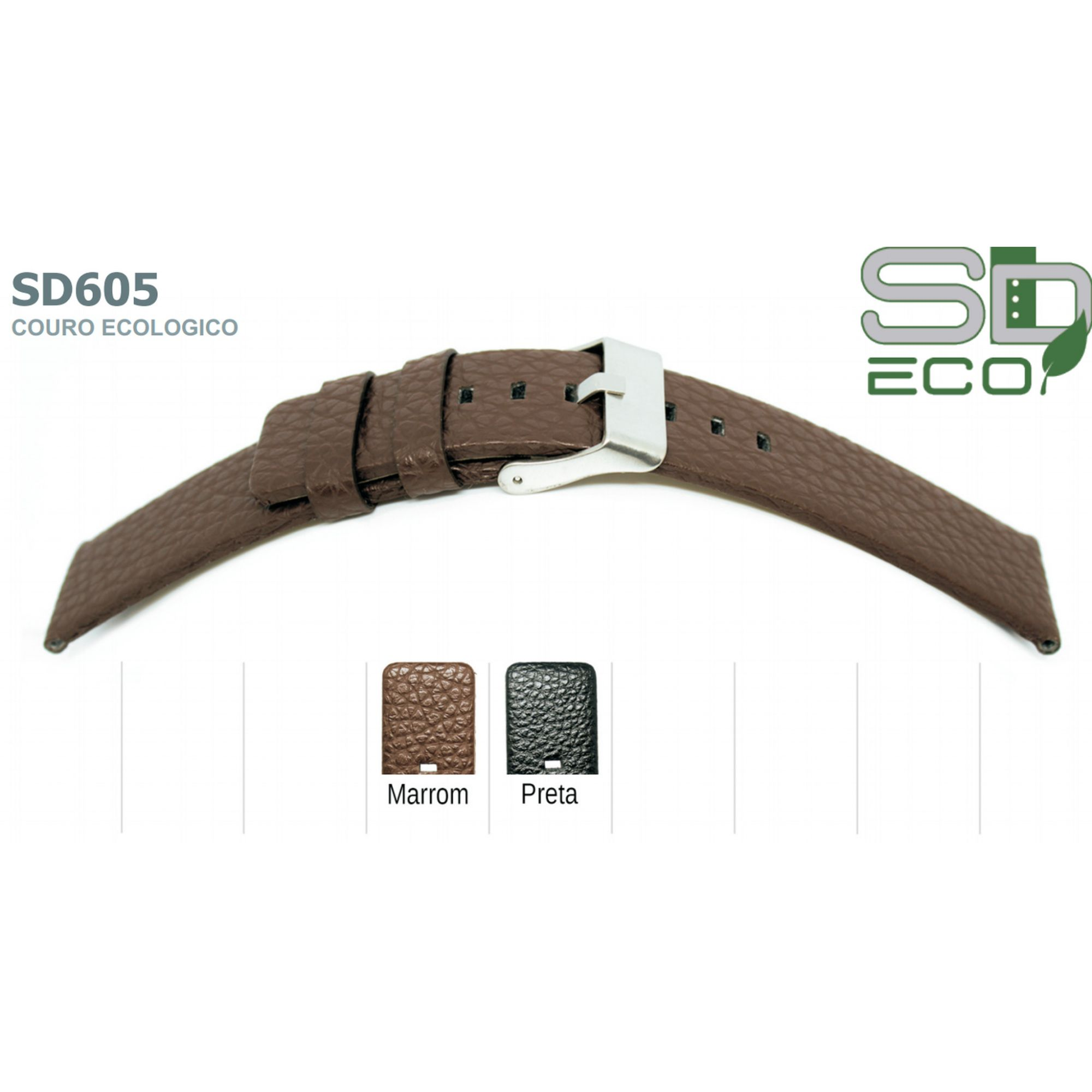 Pulseira de Couro Ecológico SDeco 605