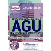 AGU - Apostilas ANALISTA TÉCNICO-ADMINISTRATIVO e ADMINISTRADOR -1.8