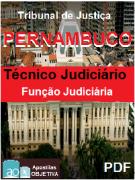 Apostila completa em PDF - TJ PERNAMBUCO - Técnico Judiciário - Função JUDICIÁRIA