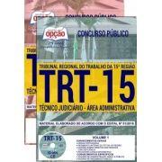 Apostila Completa IMPRESSA-TRT- 15ª -Campinas-SP- Técnico Jud. Administrativa-1.8