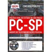 Apostila -Impressa-Concurso AGENTE DE TELECOMUNICAÇÕES POLÍCIA CIVIL - SP.