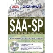 Apostila Concurso SAA-SP - AGENTE DE APOIO AGROPECUÁRIO.