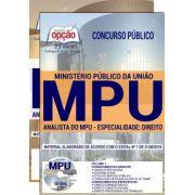 APOSTILA IMPRESSA CONCURSO MPU - ANALISTA-2018