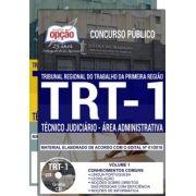 Apostila IMPRESSA-TRT- 1ª -RIO DE JANEIRO -Técnico Jud. Administrativa-1.8