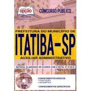 Concurso Município de Itatiba 2018 |  AUXILIAR ADMINISTRATIVO - IMPRESSA