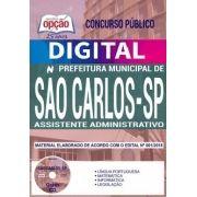 Concurso Prefeitura de São Carlos 2018 |  ASSISTENTE ADMINISTRATIVO - VERSÃO DIGITAL