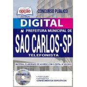 Concurso Prefeitura de São Carlos 2018 |  TELEFONISTA - VERSÃO DIGITAL