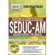 Concurso SEDUC AM 2018 |  ASSISTENTE TÉCNICO - IMPRESSA