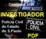 Apostila- PDF - Concurso-Investigador-Polícia Civil SP-Concurso - 2018