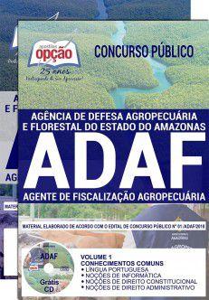 ADAF - AMAZONAS -1.8 - Diversos Cargos  - Apostilas Objetiva