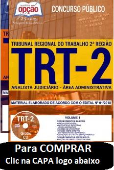 ANALISTA-JUDICIÁRIO-TRT-2-SP-ÁREA ADMINISTRATIVAL-Apostila-IMPRESSA-1.8  - Apostilas Objetiva