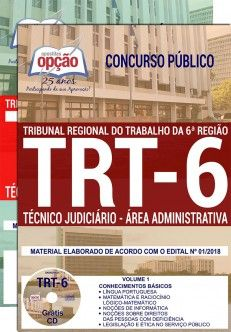 Apostila Completa IMPRESSA-TRT- 6ª - Pernambuco- Técnico Jud. Administrativa-1.8  - Apostilas Objetiva