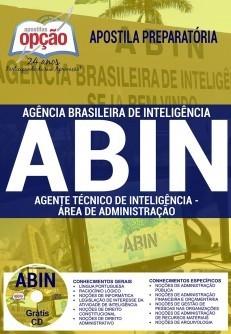 APOSTILA CONCURSO ABIN  - AGENTE TÉCNICO DE INTELIGÊNCIA - ÁREA DE ADMINISTRAÇÃO.  - Apostilas Objetiva