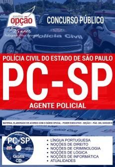 Apostila Concurso AGENTE POLICIAL- POLÍCIA CIVIL - SP.  - Apostilas Objetiva
