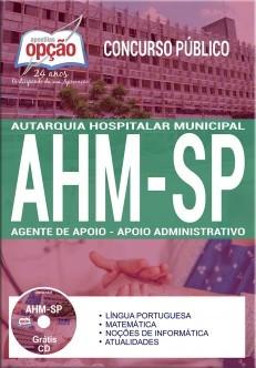 Apostila Concurso AHM-SP|AGENTE DE APOIO - APOIO ADMINISTRATIVO  - Apostilas Objetiva