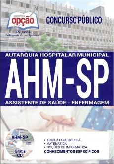 Apostila Concurso AHM-SP|ASSISTENTE DE SAÚDE - ENFERMAGEM.  - Apostilas Objetiva