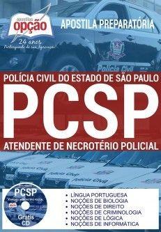 Apostila Concurso ATENDENTE DE NECROTÉRIO POLÍCIA CIVIL - SP.  - Apostilas Objetiva